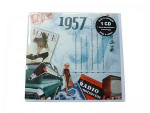 Carte anniversaire avec CD de titres phares de 1957 – collection « Les années mémorables »