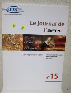 Le journal de l'AFPC / Septembre 2008