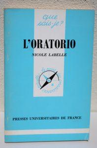 L'ORATORIO - Nicole Labelle